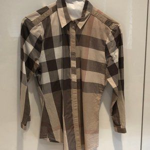 Burberry Brit Plaid top size small